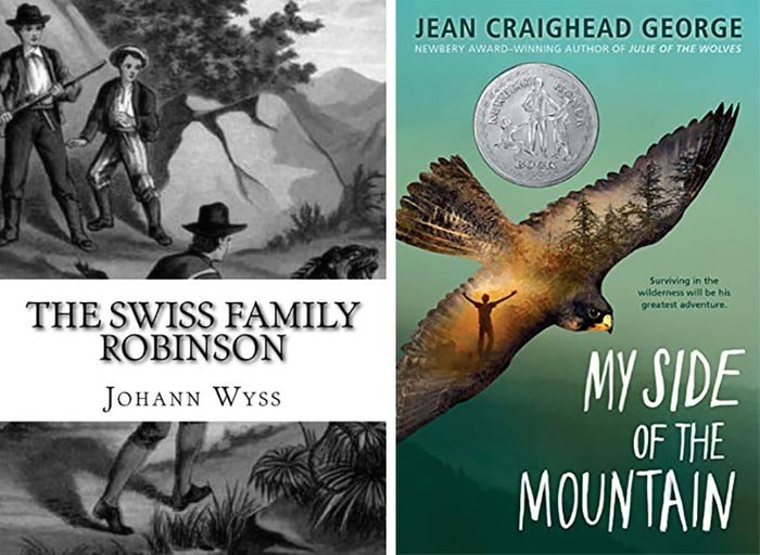 the swiss family robinson book my side of the mountain book