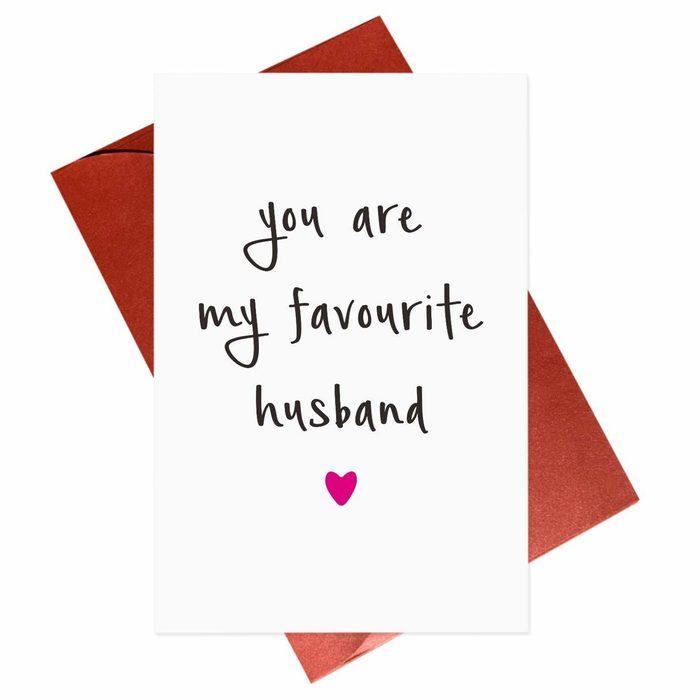 favorite husband valentines day card
