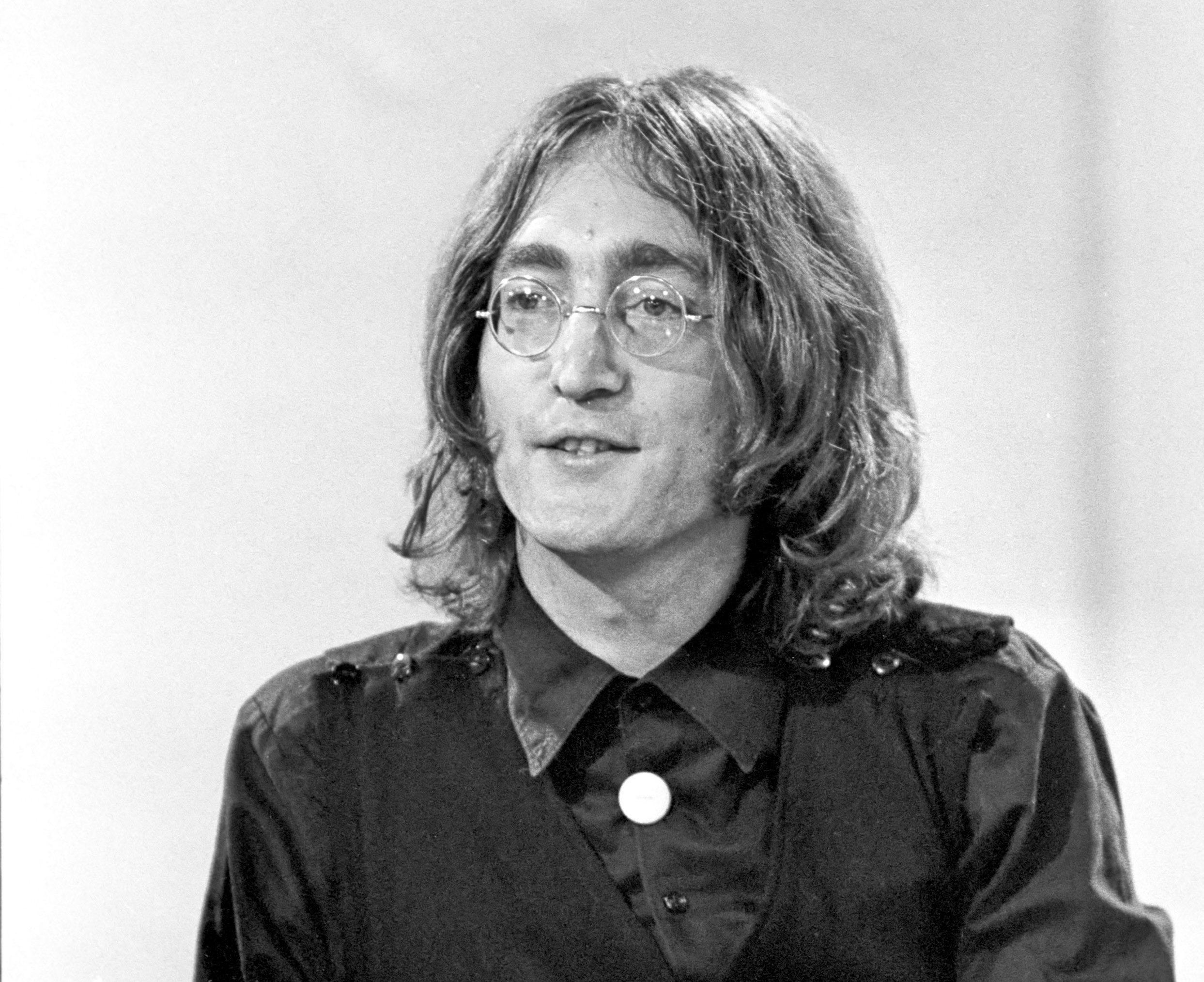 Mandatory Credit: Photo by Shutterstock (524008o) 'Frost on Saturday' TV programme - John Lennon - 24 Aug 1968 JOHN LENNON