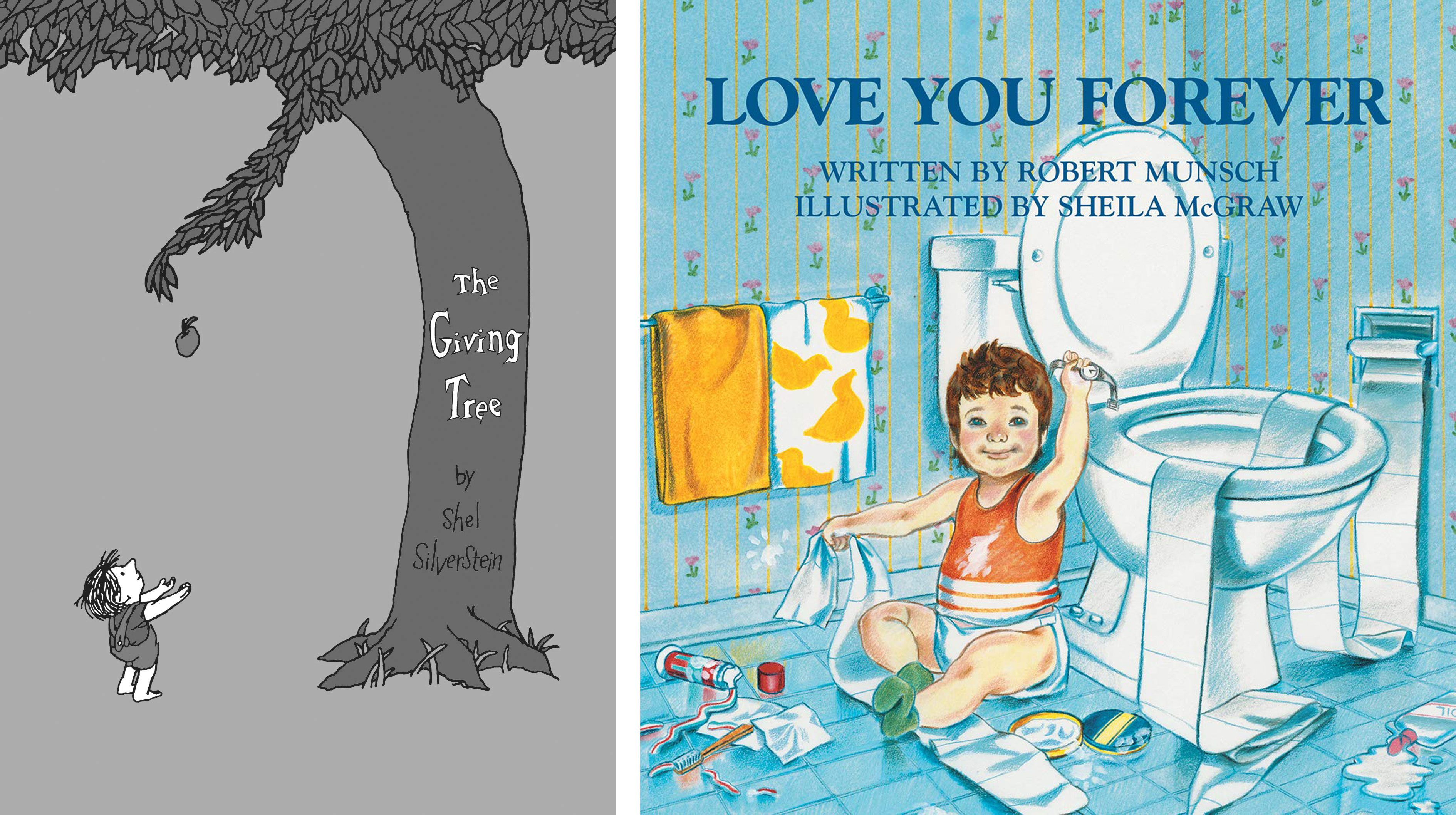 the giving tree and i love you forever childrens' book