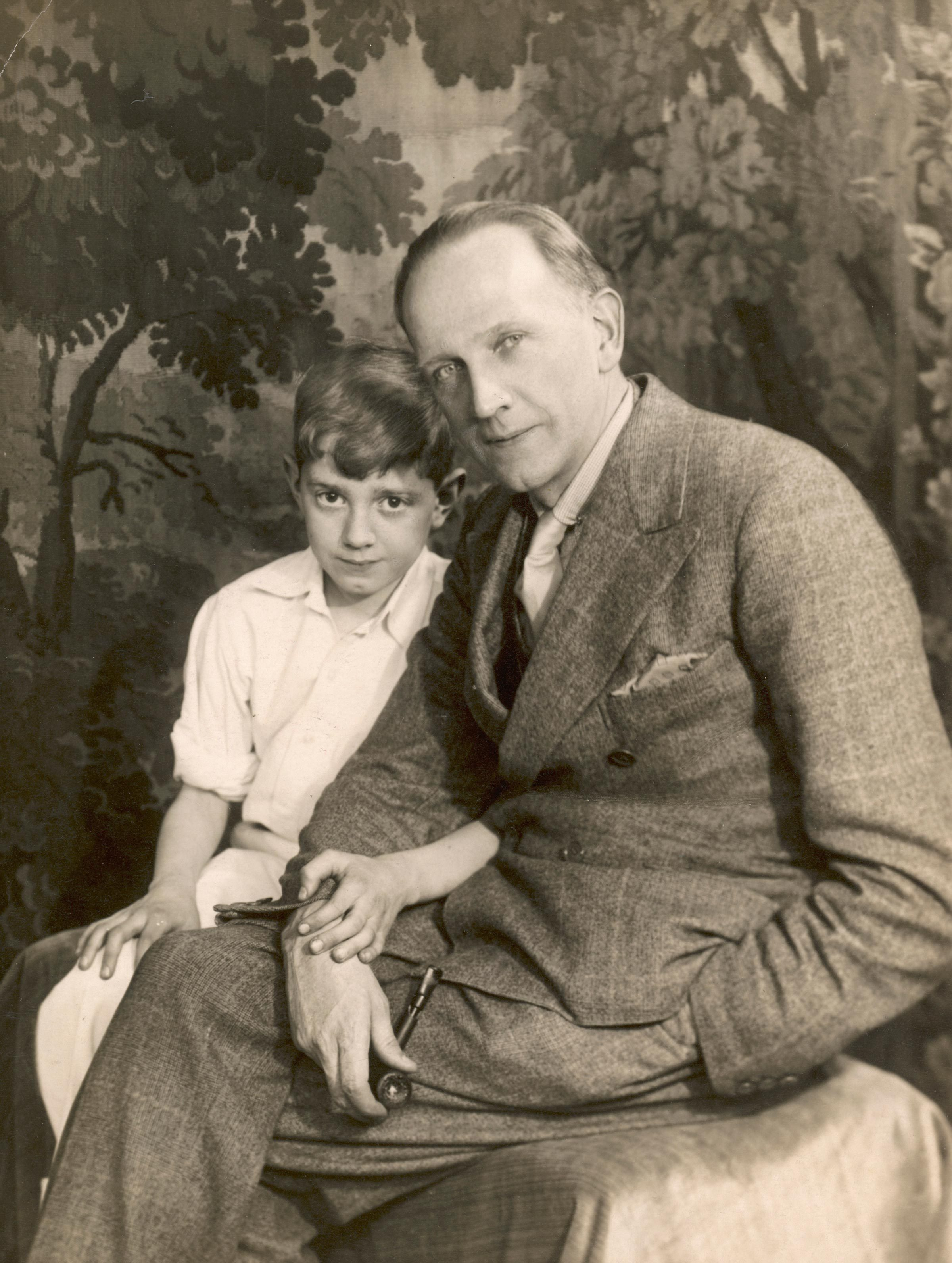 Alan Alexander Milne (1882 - 1956) British Author and Playwright Pictured with His Son Christopher Robin Milne (1920 - 1996) the Inspiration For His Famous Winnie the Pooh Books c.1932