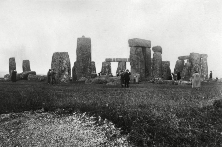 Visiting the Site On A Dull Day circa 1910