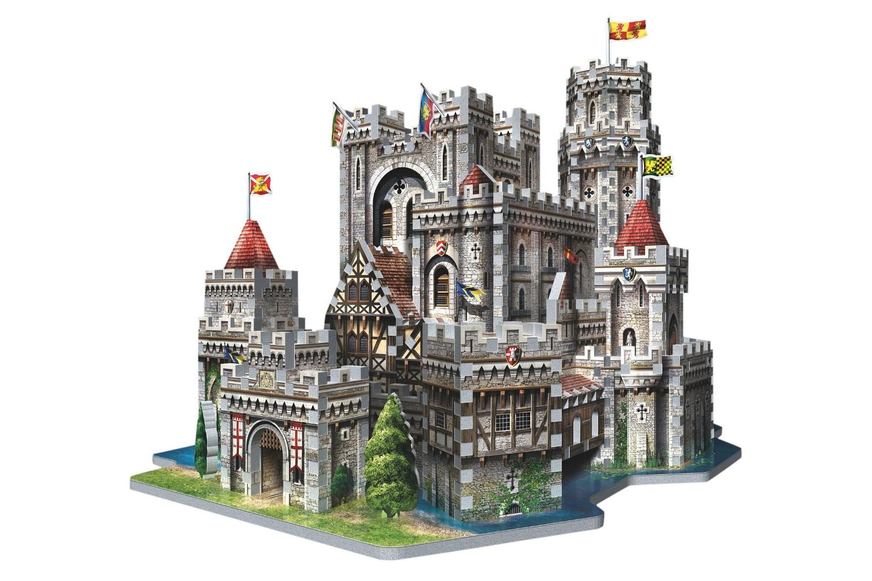 3D castle puzzle