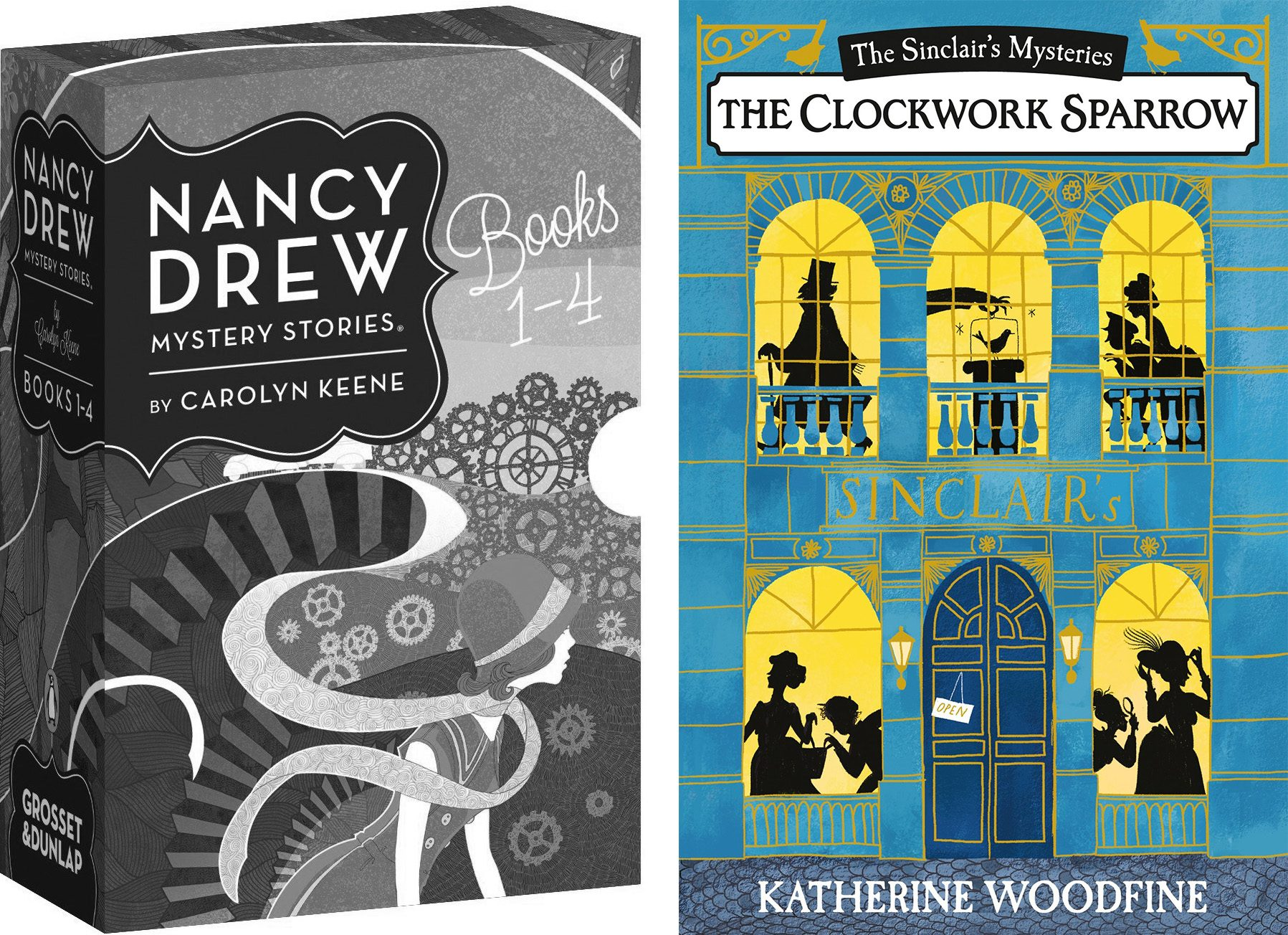nancy drew mystery book and sinclair mysteries
