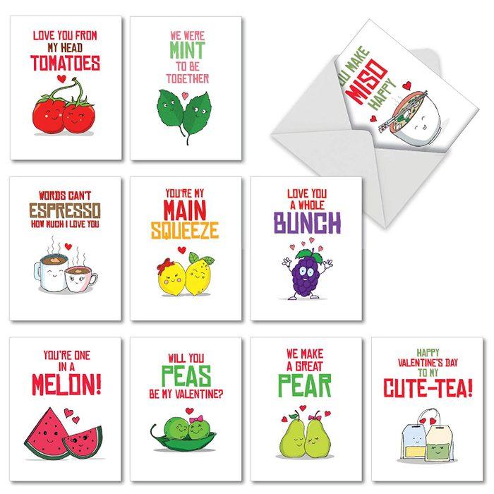 food pun cards
