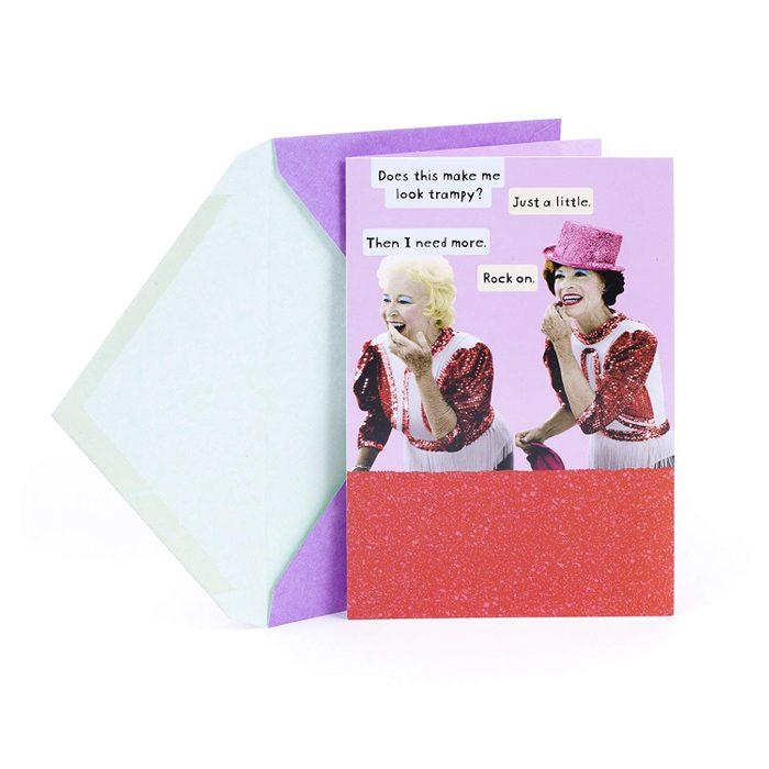 trampy valentines day card