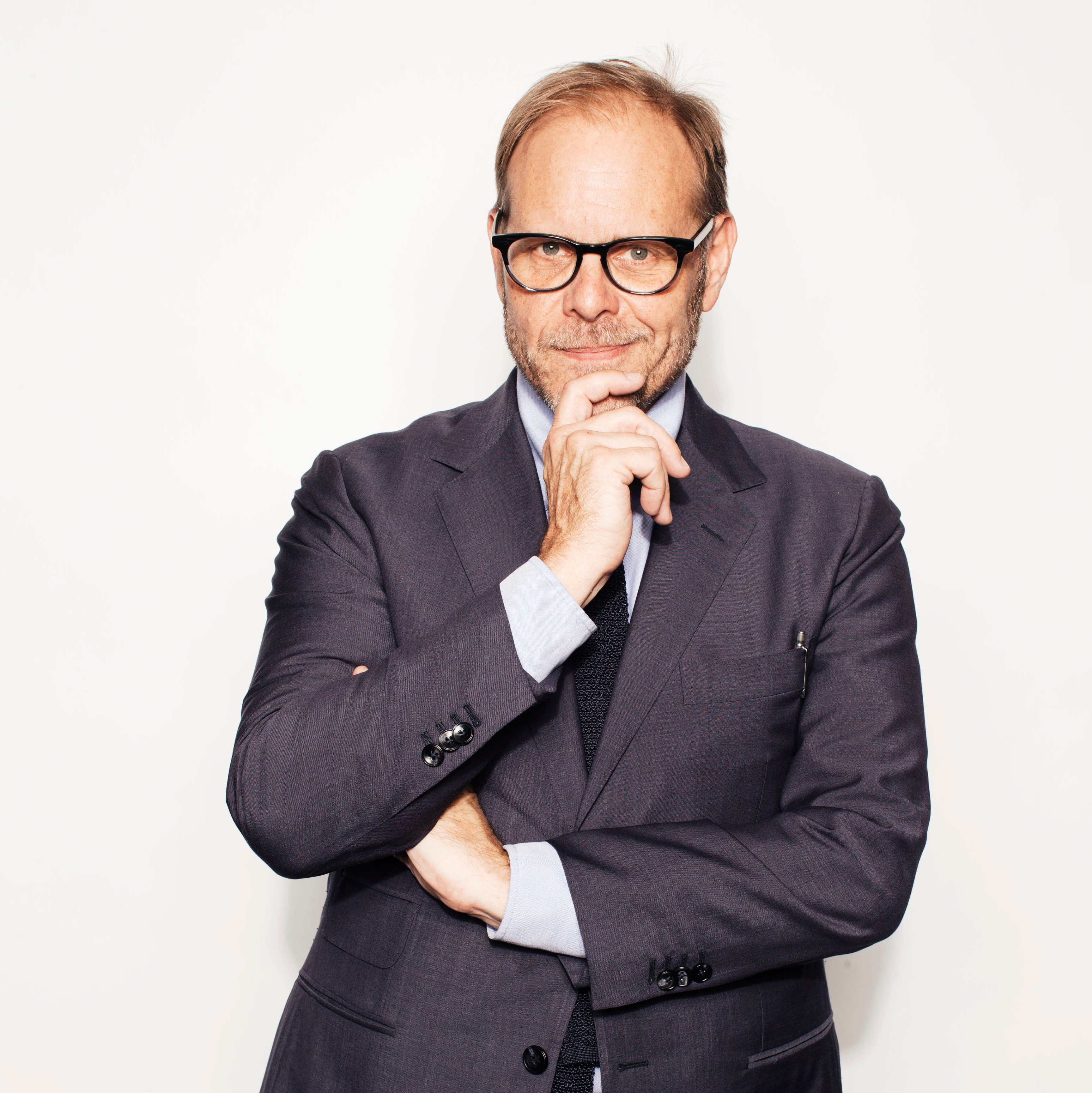 """Mandatory Credit: Photo by Victoria Will/Invision/AP/Shutterstock (9112648b) Alton Brown poses for a portrait in New York to promote his cookbook, """"EveryDayCook: This Time It's Personal,"""" and a live Broadway variety show with a mix of unusual food demonstrations, puppets and songs Alton Brown Portrait Session, New York, USA"""