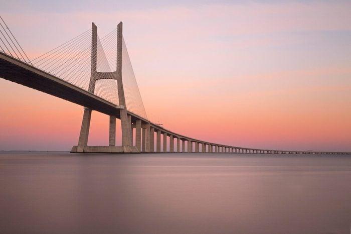 Vasco da Gama Bridge over the River Tagus