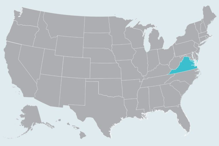 map showing state(s) to travel to in april