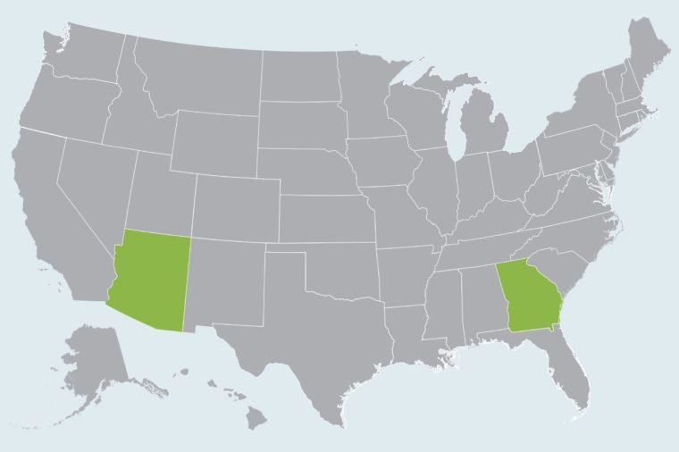 map showing state(s) to travel to in august