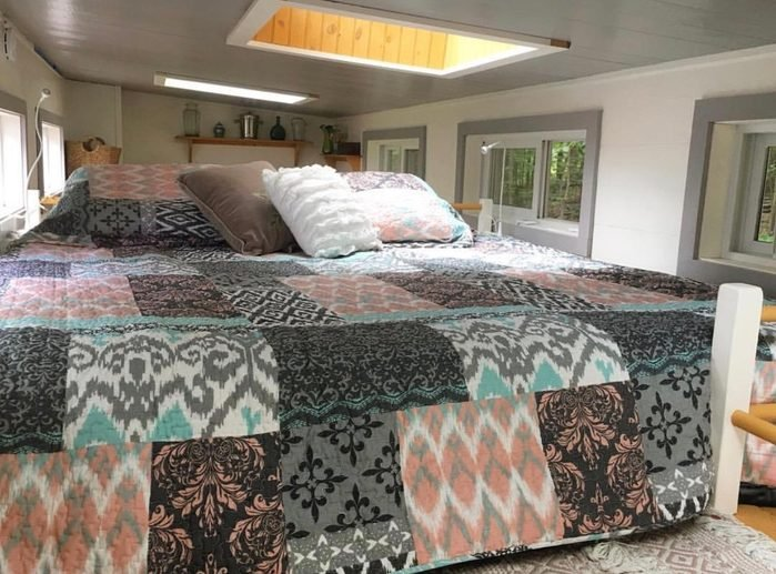 bed in tiny house
