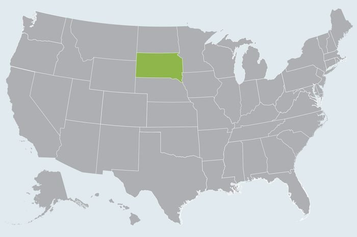 map showing state(s) to travel to in december
