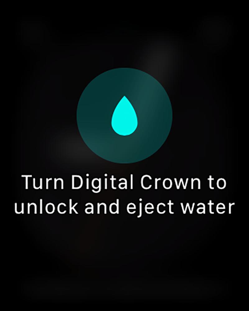 eject water apple watch