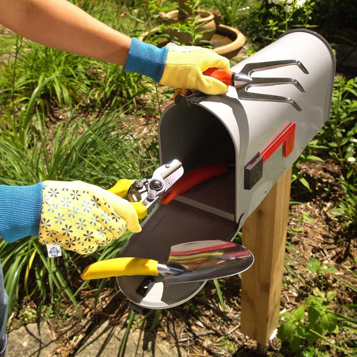garden tool mailbox hideaway storage