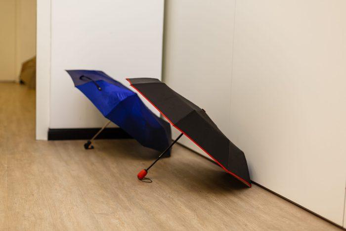 Umbrella inside bad luck