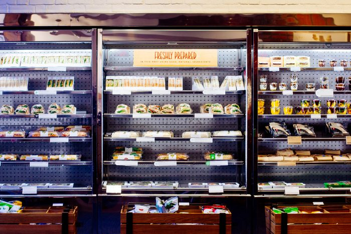 ready made food in a refrigerated case - grab and go