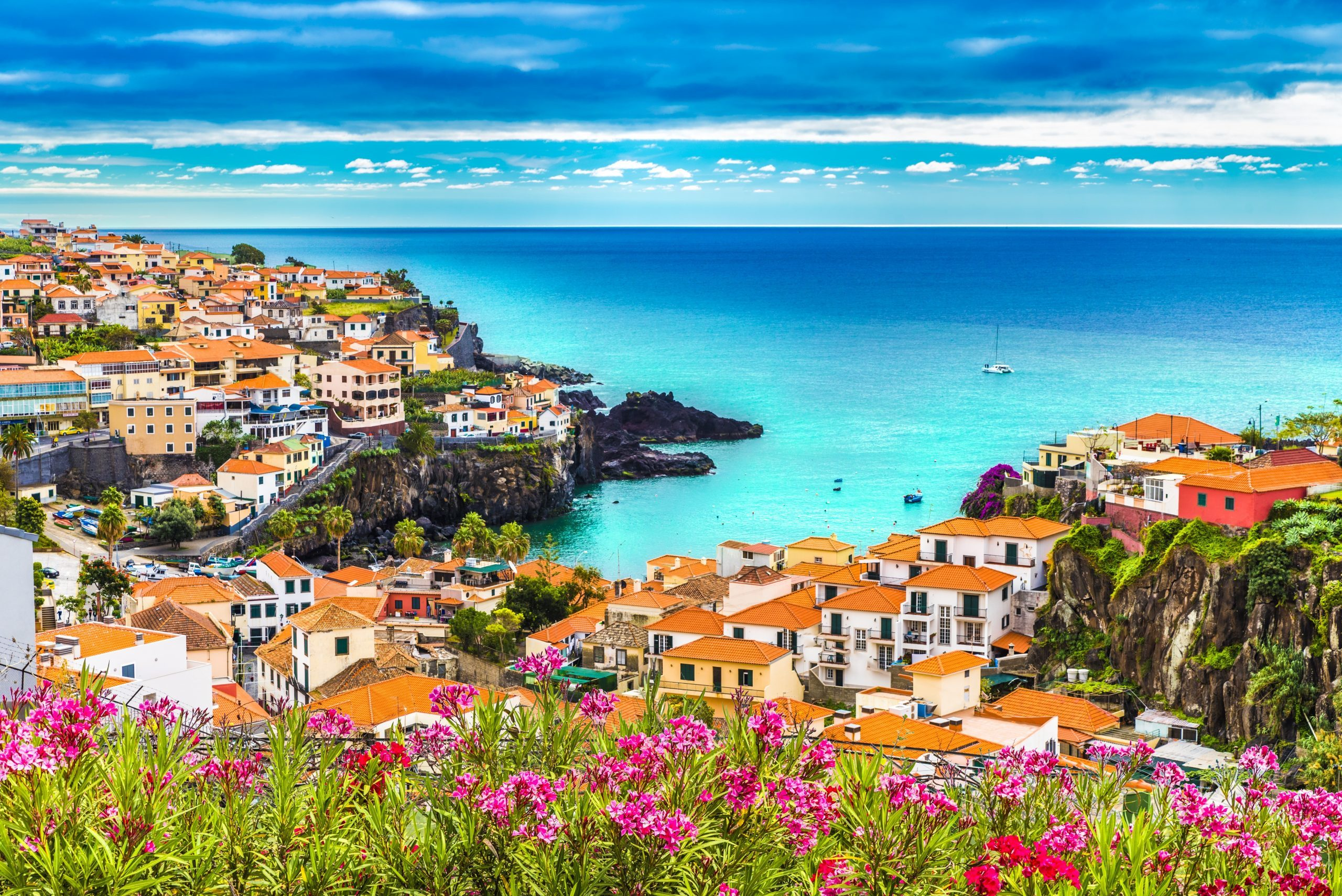 PanoraCamara de Lobos, Madeira island, Portugal