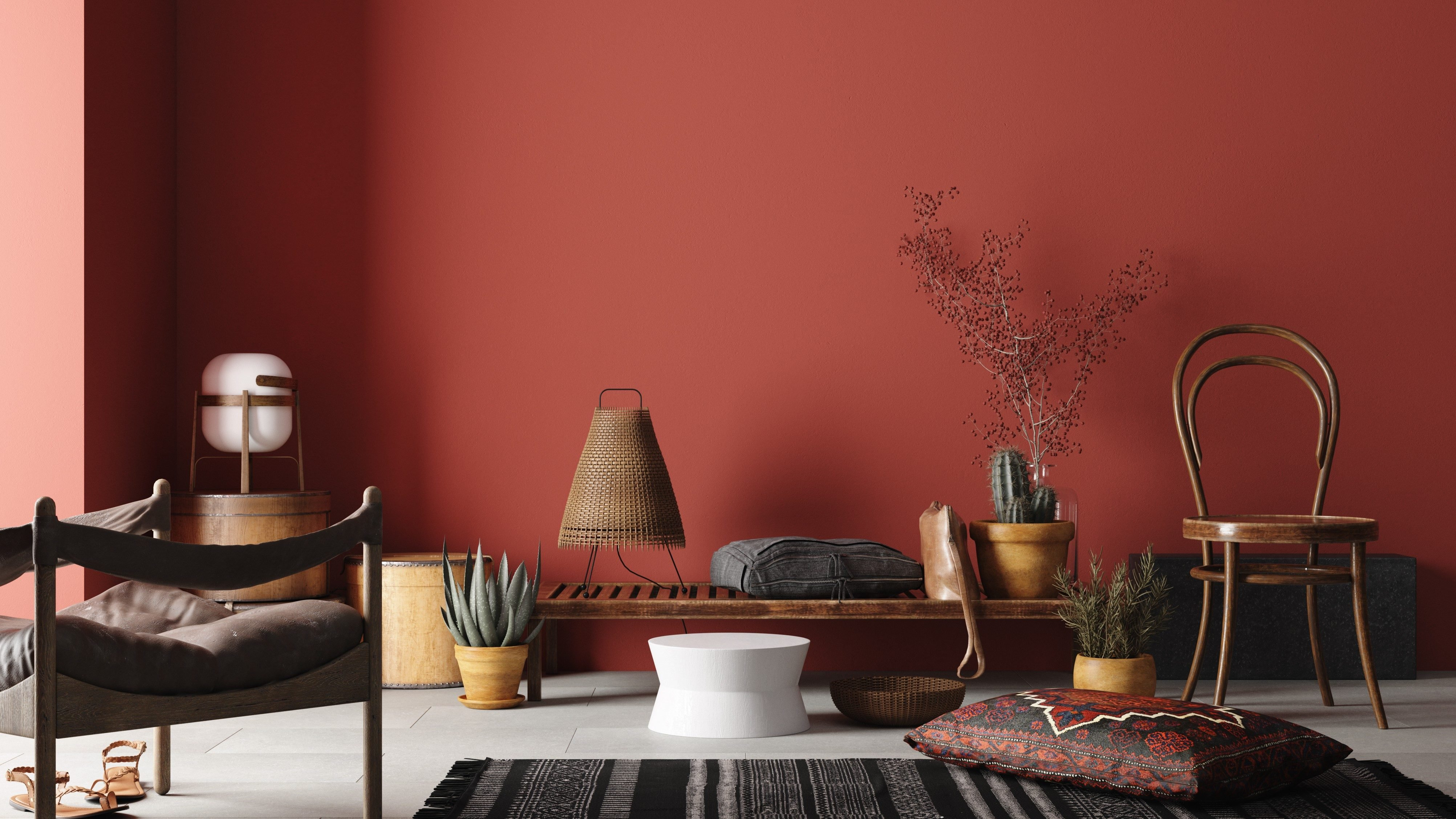 copper red paint