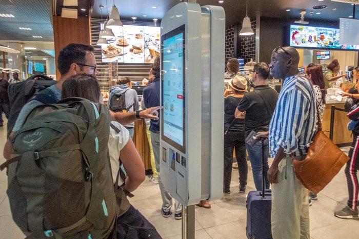 digital menu boards ordering at mcdonalds