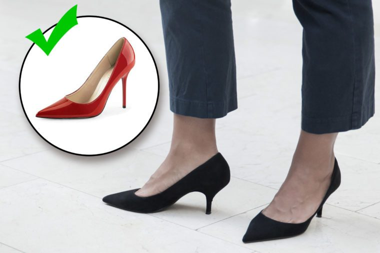 do and don't. style mistakes. your heels aren't high enough. don't wear too casual a shoe.
