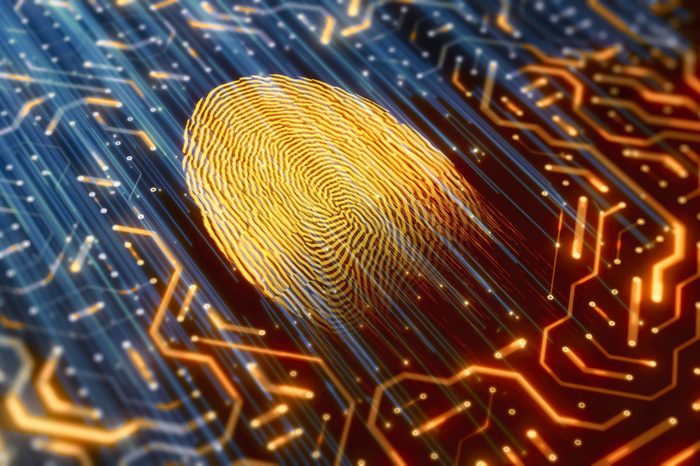 digital concept with fingerprint