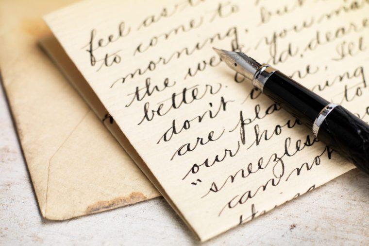 beautiful neat handwriting