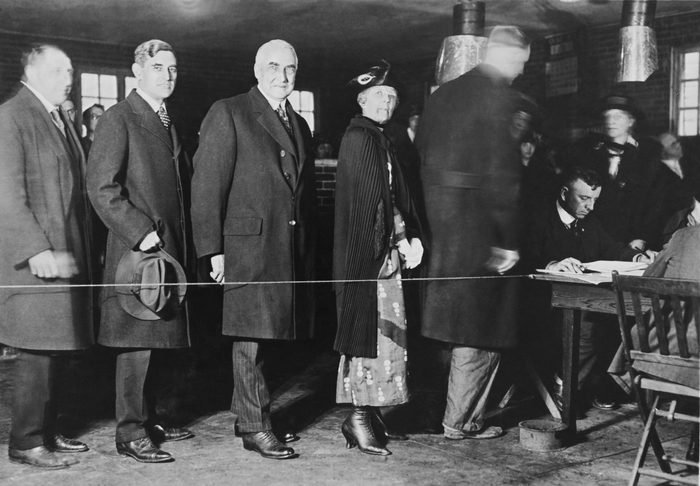 future first lady florence harding voting for president