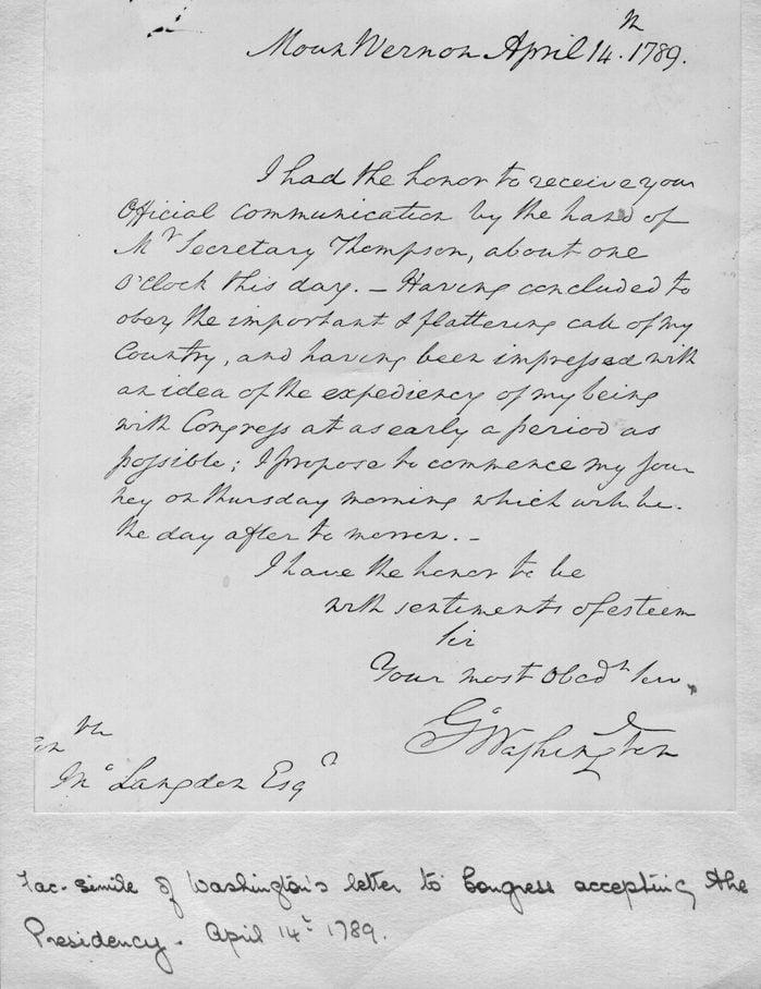 george washington handwriting