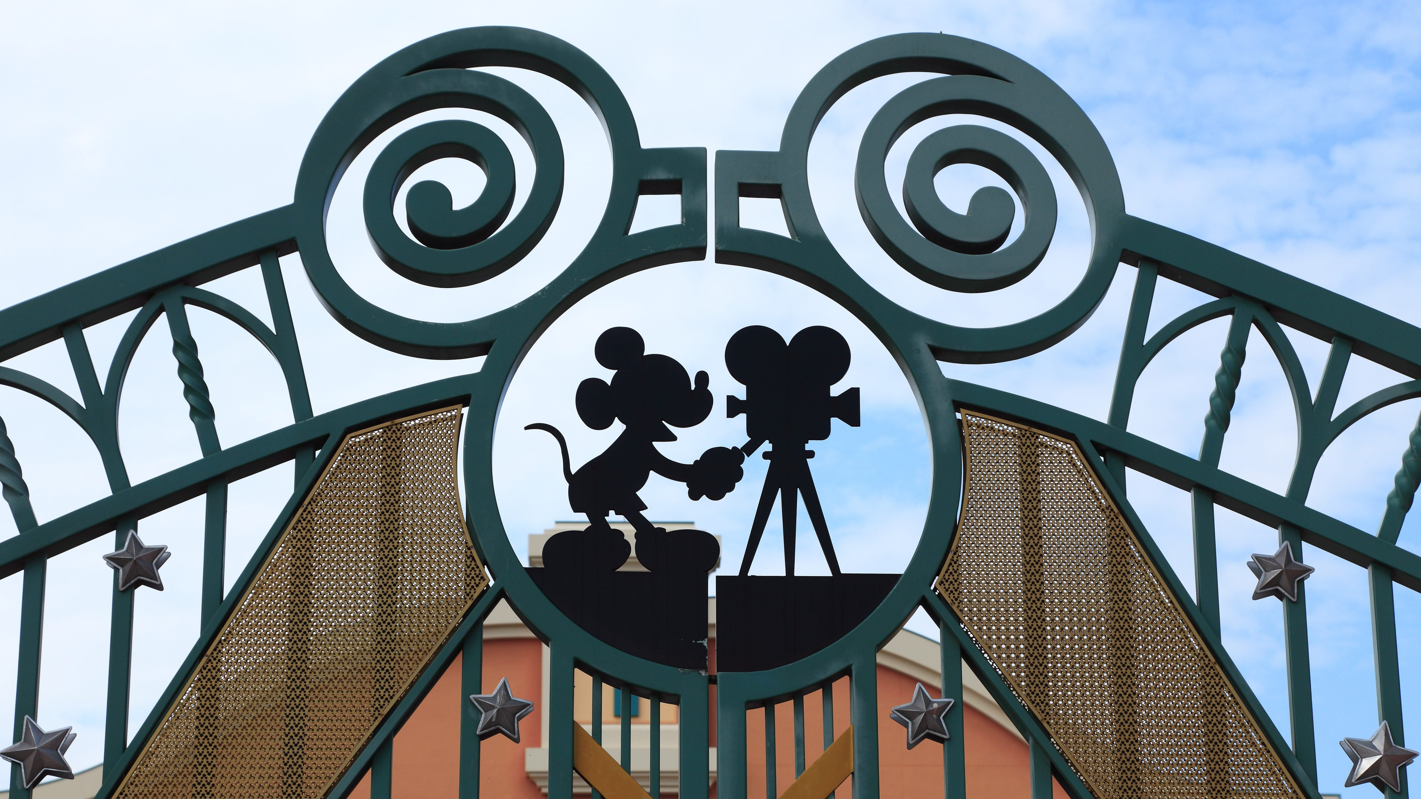 Detail of the entrance gate in Walt Disney Studios in Paris