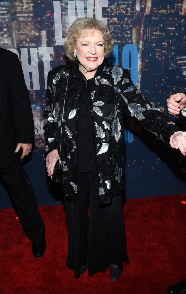 Betty White attends SNL 40th Anniversary Celebration at Rockefeller Plaza on February 15, 2015 in New York City.