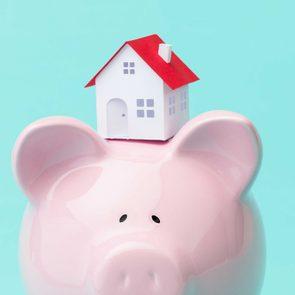 piggy bank house concept