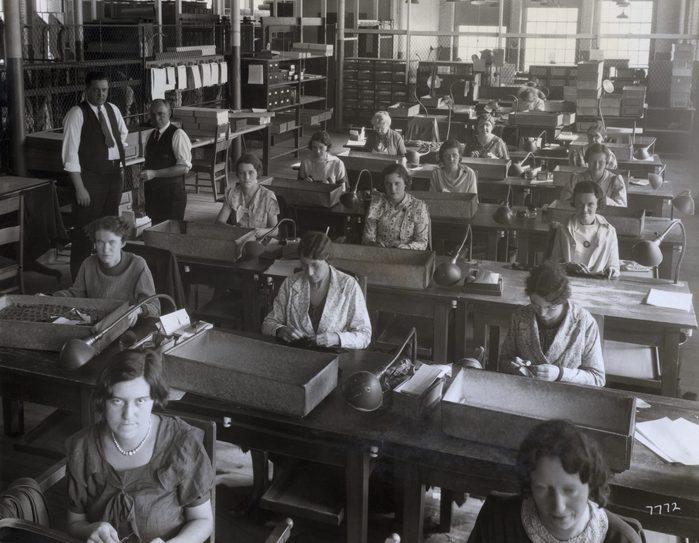 factory workers women