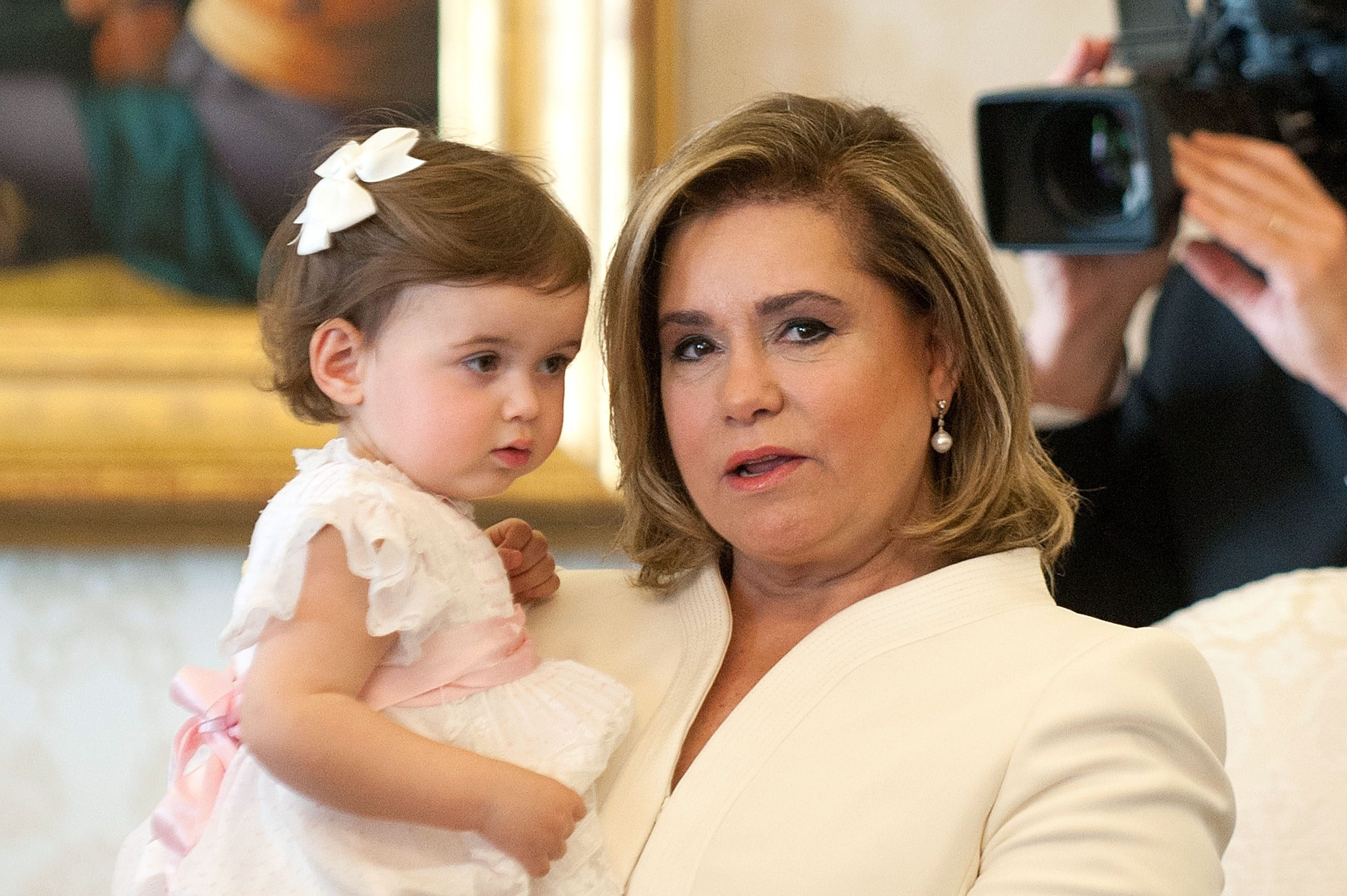 Grand Duchess Maria Teresa of Luxembourg and Princess Amalia Gabriela Maria Teresa