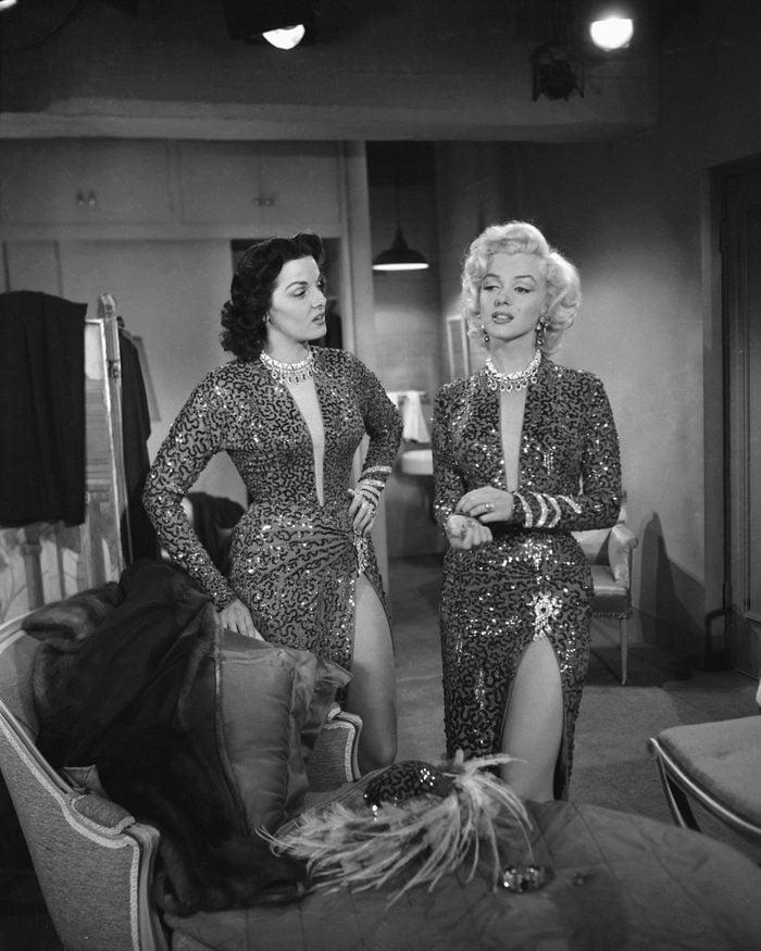 Marilyn Monroe and Jane Russell gentlemen prefer blondes movie fashion