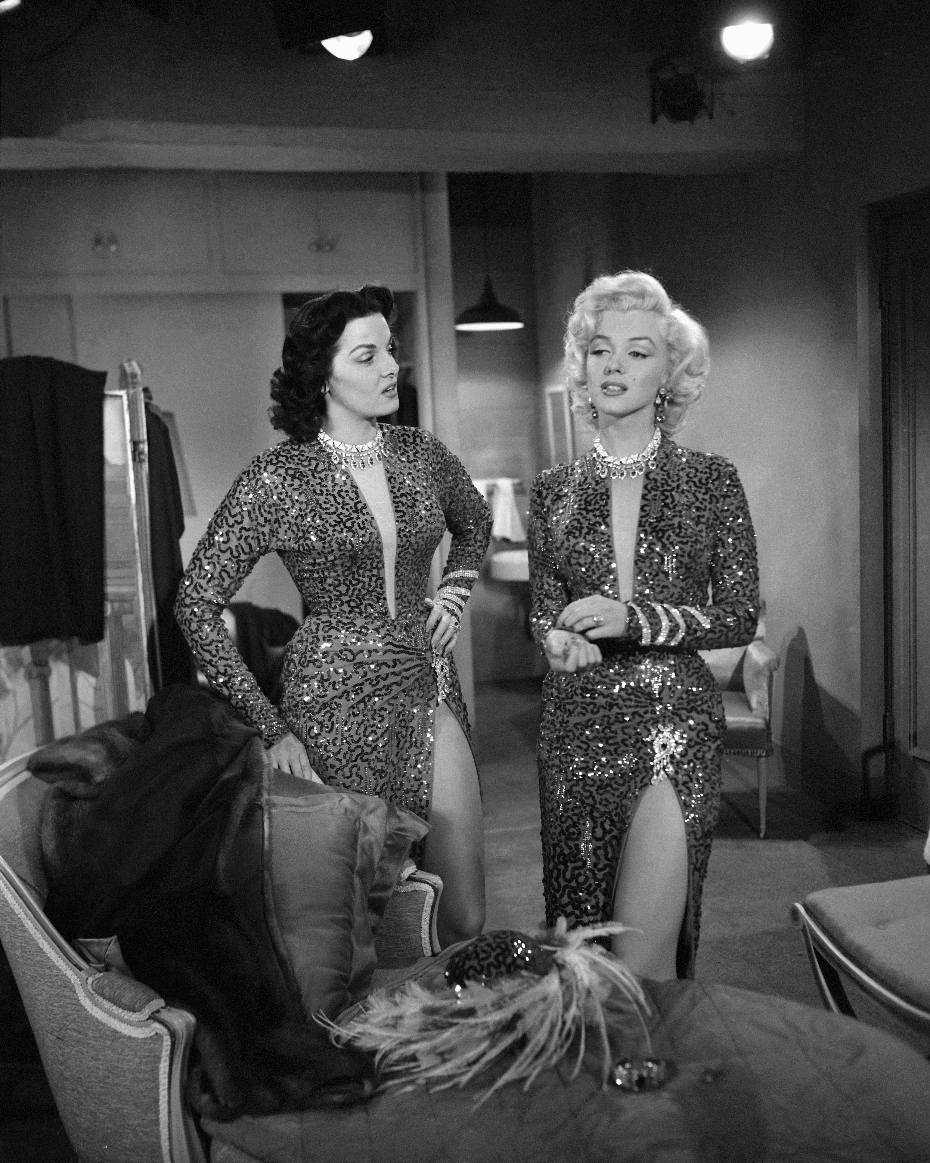 Marilyn Monroe and Jane Russell gentlemen prefer blondes movie fashion