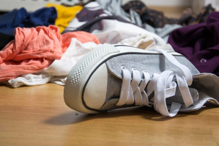 shoes and clothes on the floor