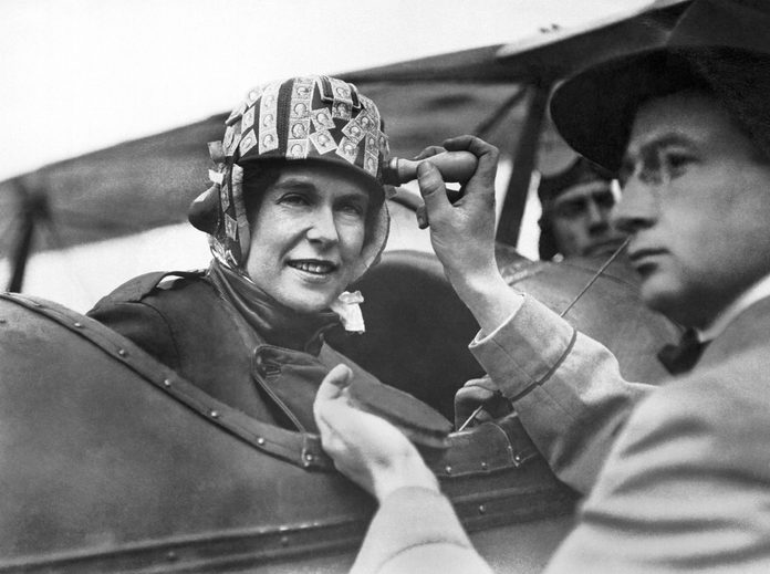 This young woman being hand cancelled by a US Postal Service worker is the most precious cargo sent yet on the new aerial post service, San Diego, California, February 13, 1919.
