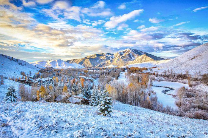 First Snow in Sun Valley, Idaho