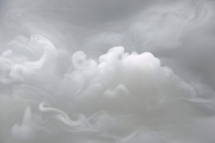 dry ice carbon dioxide cloud