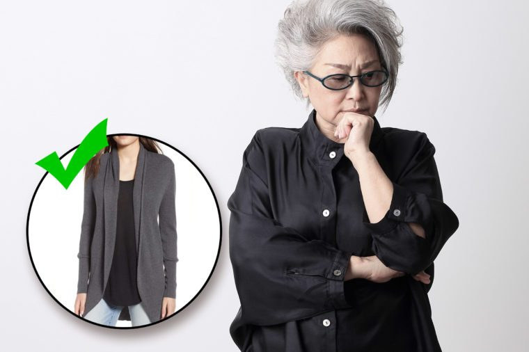 do and don't. style mistakes. wear gray instead of all black.