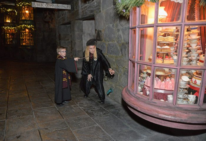 perform magic wizarding world harry potter