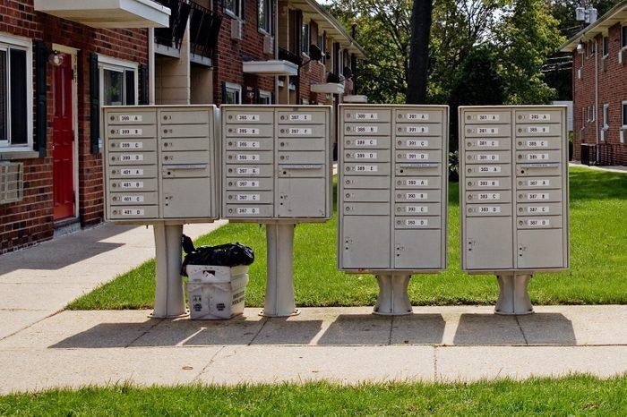 apartment building mailboxes