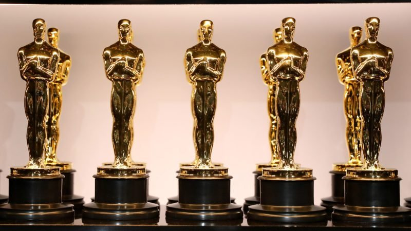 Oscar Statues at the 90th Annual Academy Awards at the Dolby Theatre on March 4, 2018 in Hollywood, California.