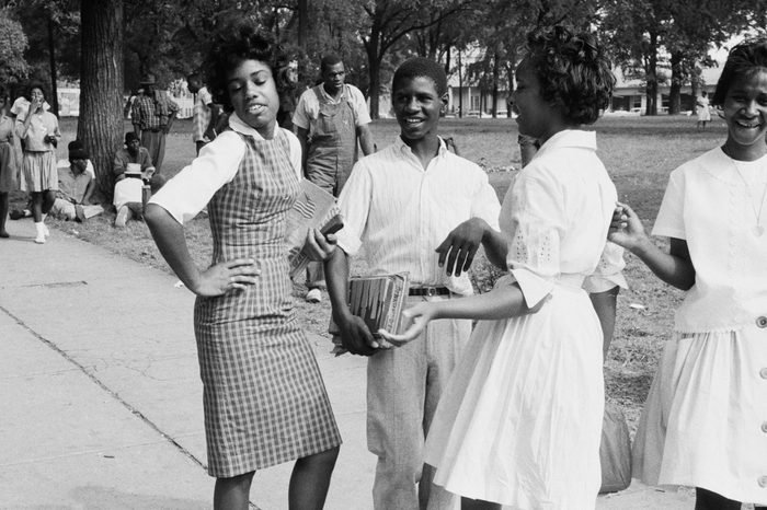 A group of African-American students in Birmingham, Alabama, February 1963