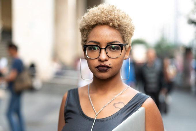 portrait of a woman. black history month.
