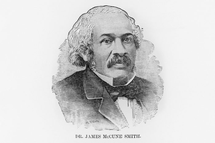 Engraving head and shoulders portrait of Dr. James McCune Smith