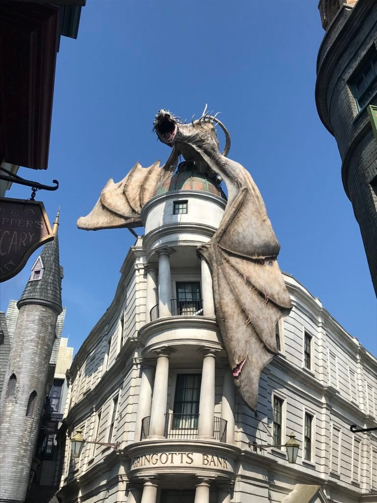 gringotts dragon wizarding world harry potter universal orlando