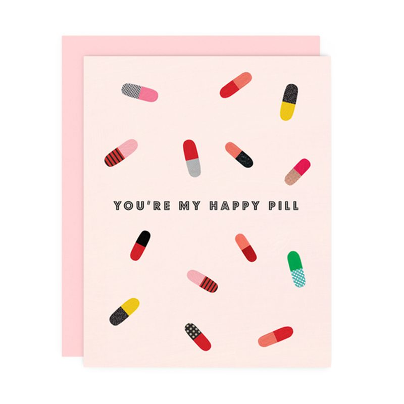 happy pill valentines card