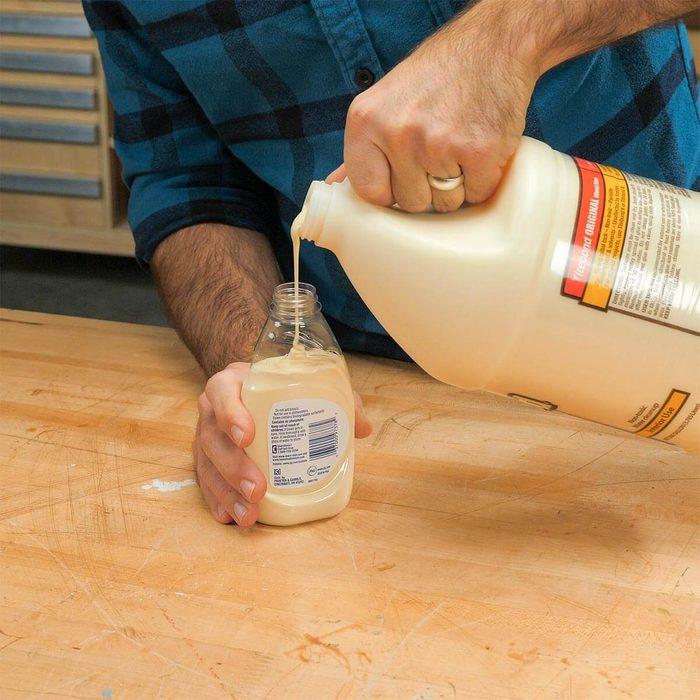 dish soap bottle for wood glue