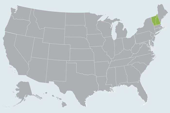 map showing state(s) to travel to in march